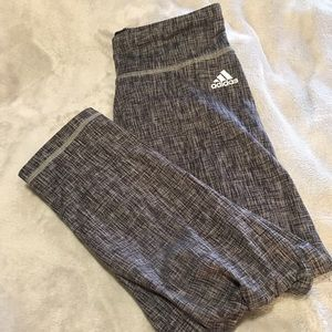 Adidas Cropped Athletic Leggings Size Small